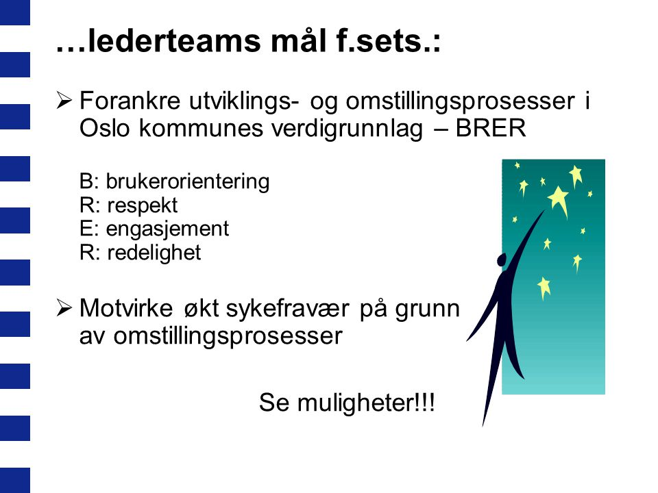 …lederteams mål f.sets.:
