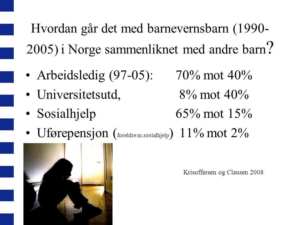 Arbeidsledig (97-05): 70% mot 40% Universitetsutd, 8% mot 40%