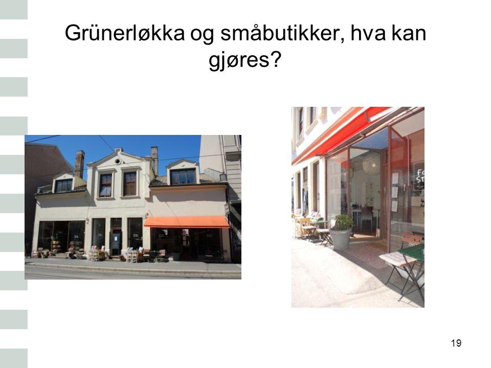 Grünerløkka og småbutikker, hva kan gjøres