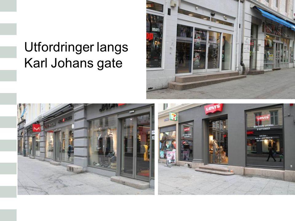 Utfordringer langs Karl Johans gate