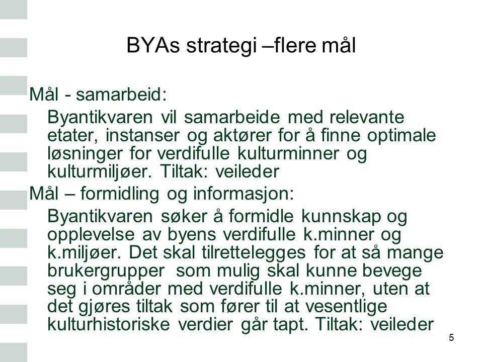 BYAs strategi –flere mål