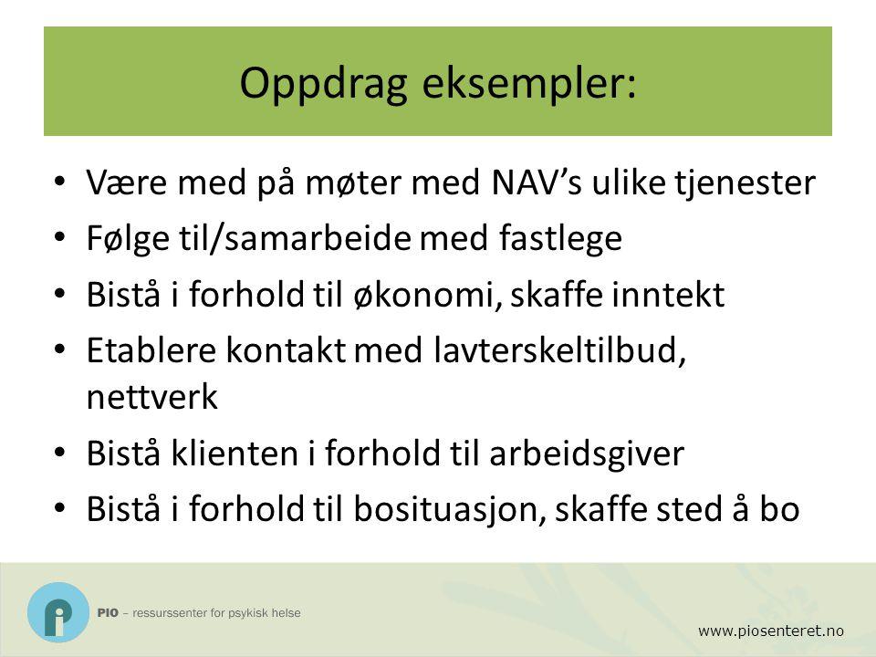 Oppdrag eksempler: Være med på møter med NAV's ulike tjenester