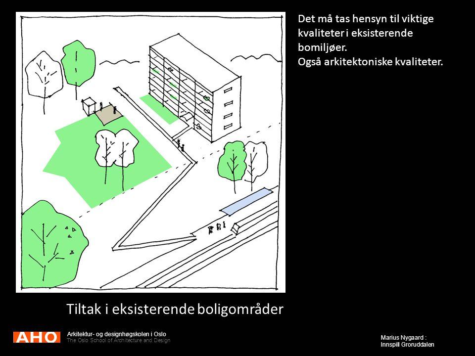 Tiltak i eksisterende boligområder