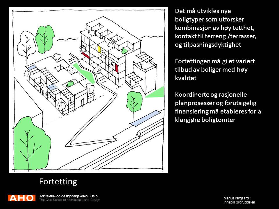Fortetting Det må utvikles nye boligtyper som utforsker