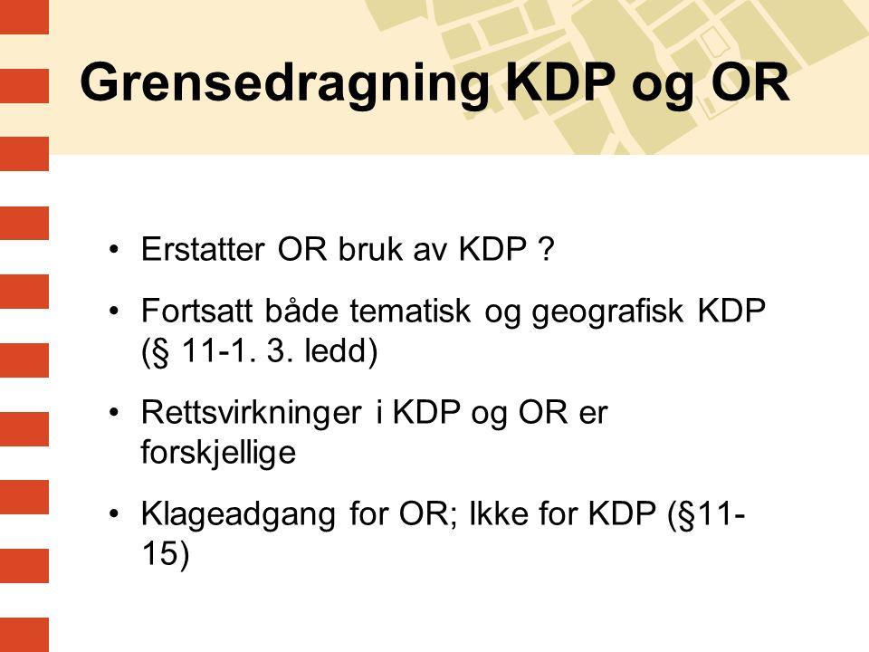 Grensedragning KDP og OR
