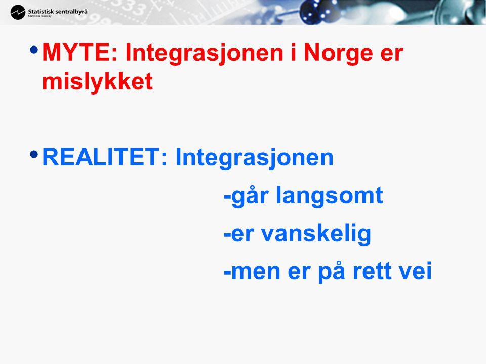 MYTE: Integrasjonen i Norge er mislykket