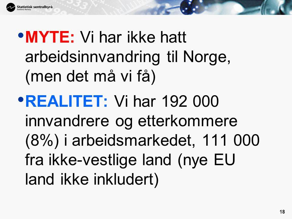 MYTE: Vi har ikke hatt arbeidsinnvandring til Norge, (men det må vi få)