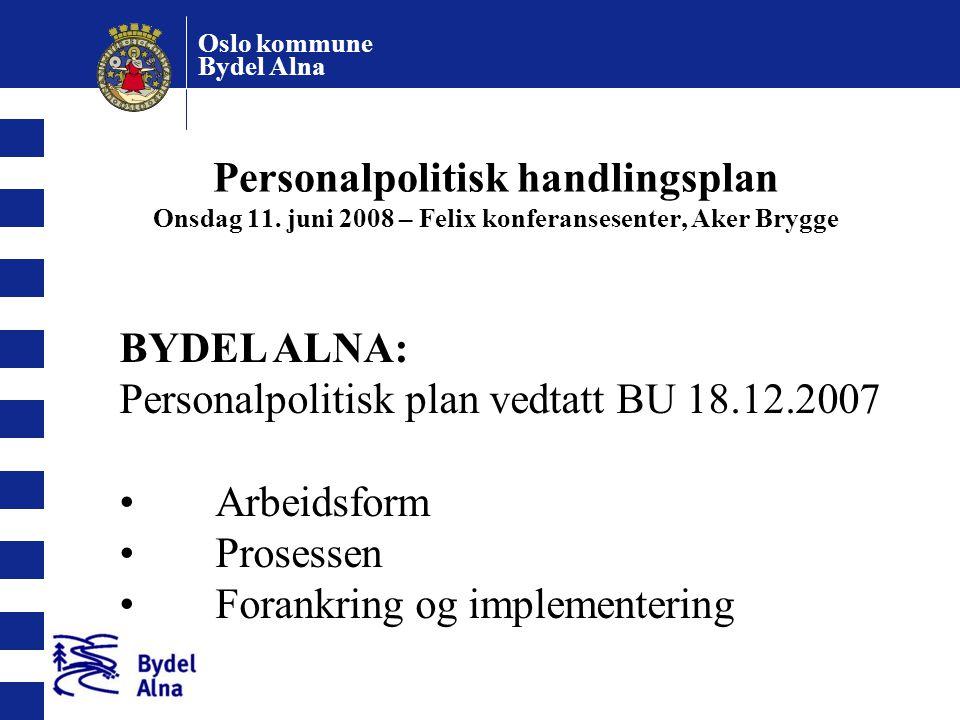 Personalpolitisk handlingsplan Onsdag 11
