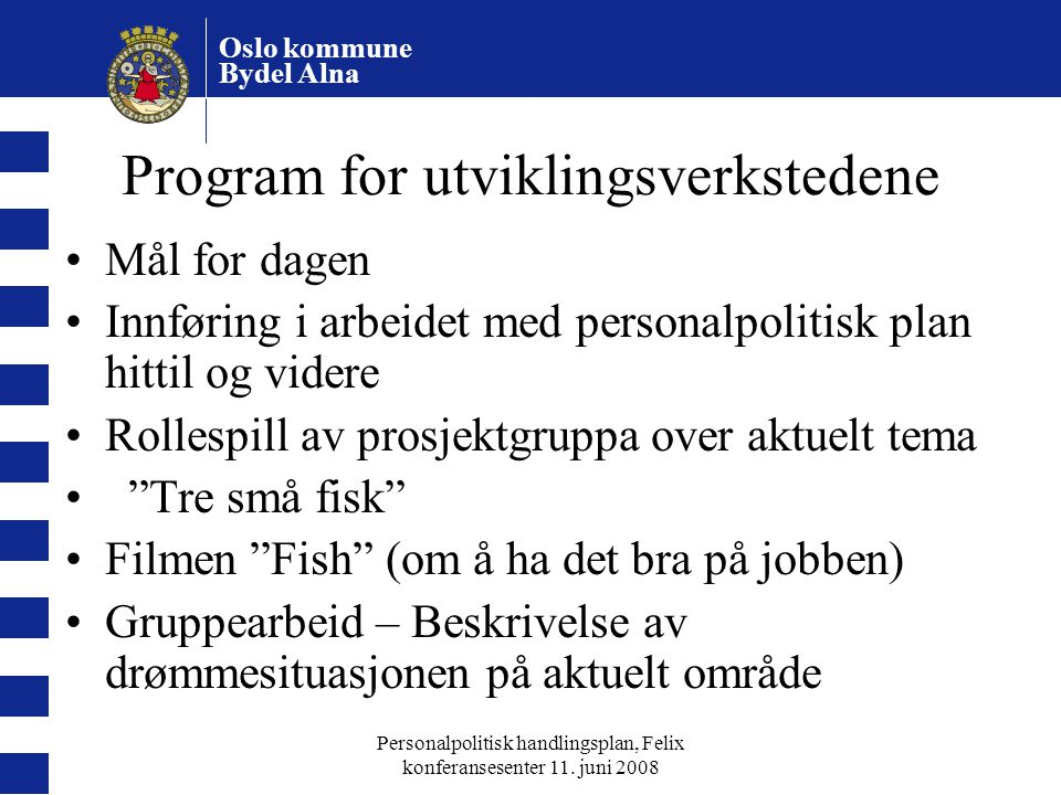 Program for utviklingsverkstedene