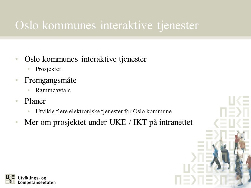 Oslo kommunes interaktive tjenester