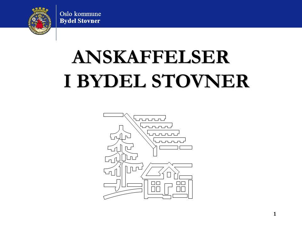 ANSKAFFELSER I BYDEL STOVNER