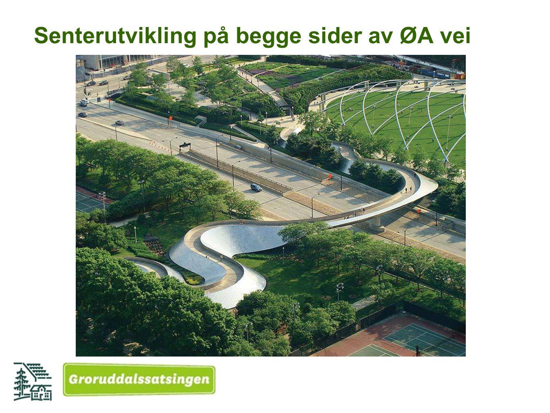 Senterutvikling på begge sider av ØA vei