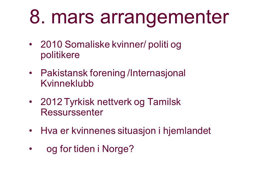 8. mars arrangementer 2010 Somaliske kvinner/ politi og politikere