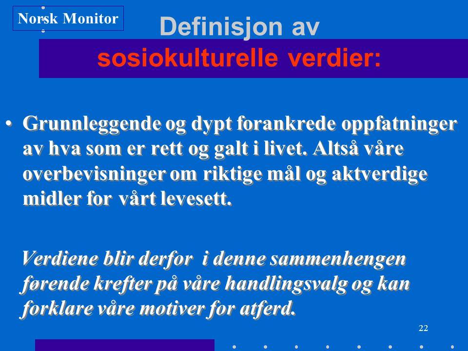 Definisjon av sosiokulturelle verdier: