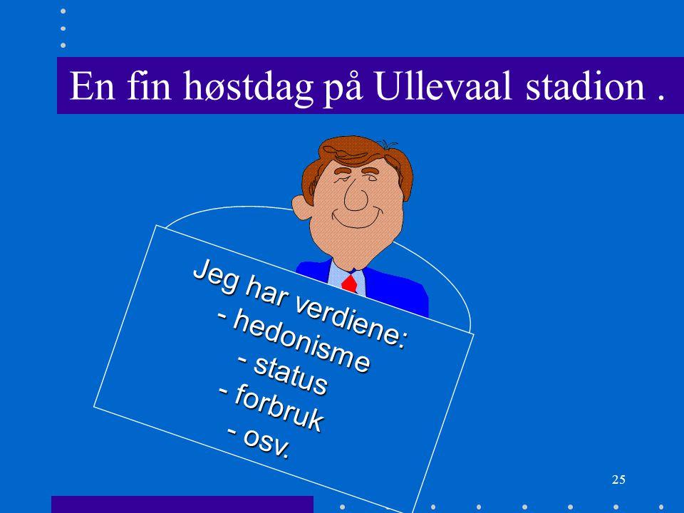 En fin høstdag på Ullevaal stadion .