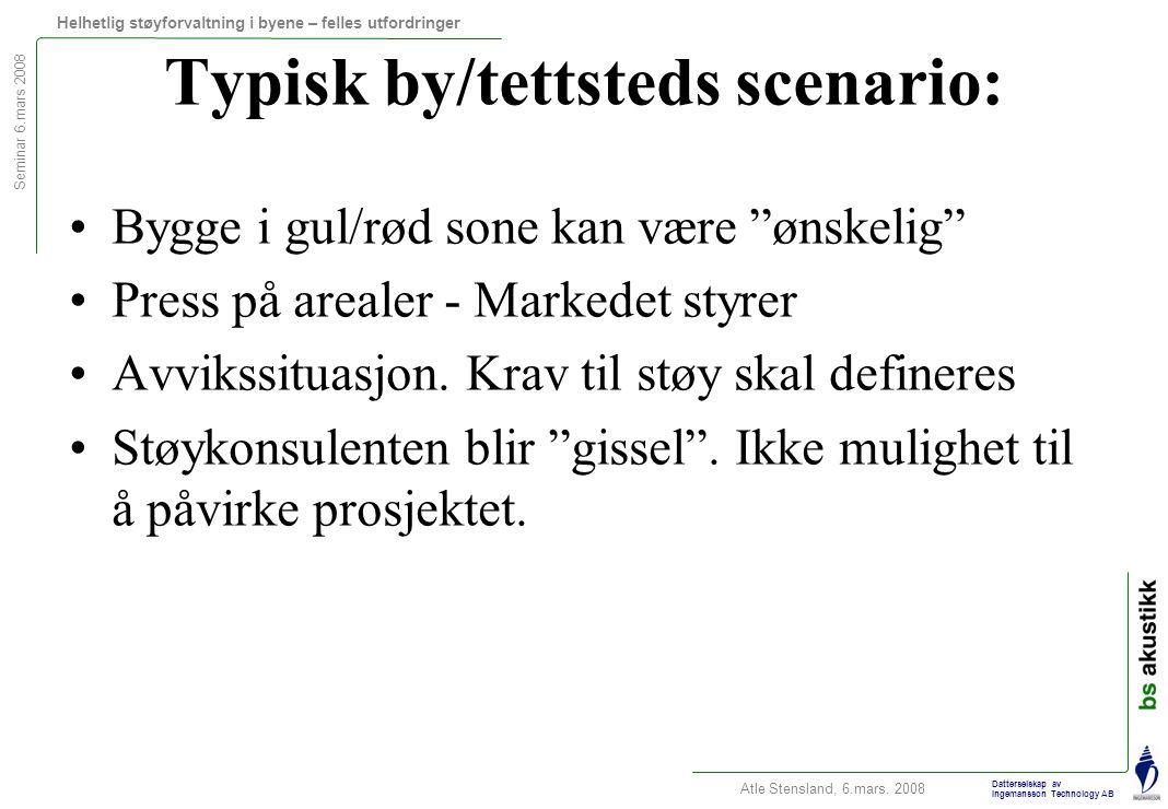 Typisk by/tettsteds scenario: