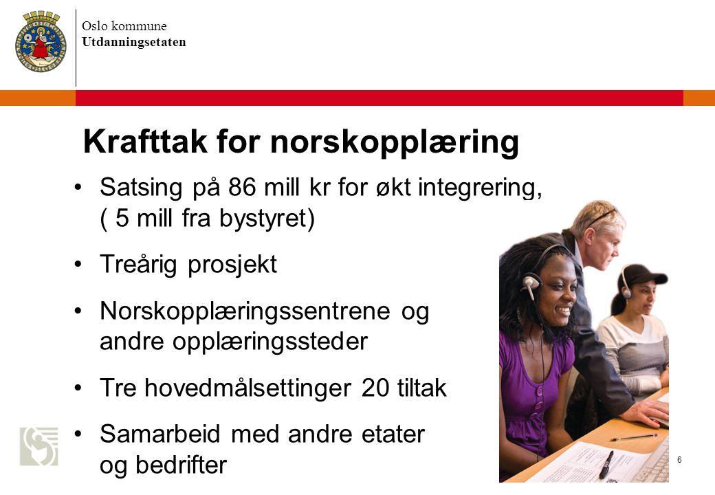 Krafttak for norskopplæring