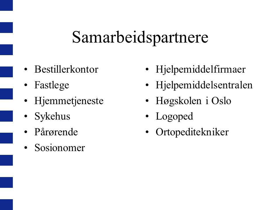 Samarbeidspartnere Bestillerkontor Fastlege Hjemmetjeneste Sykehus