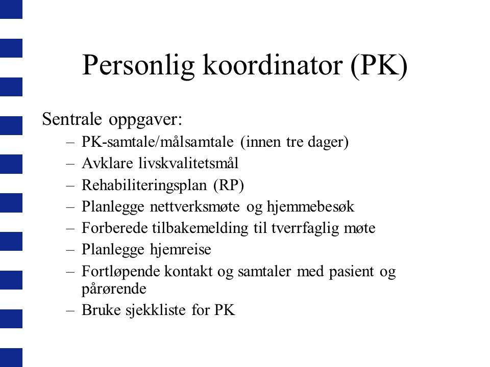 Personlig koordinator (PK)
