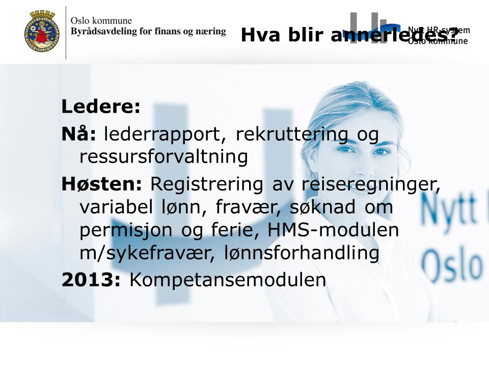 Nå: lederrapport, rekruttering og ressursforvaltning