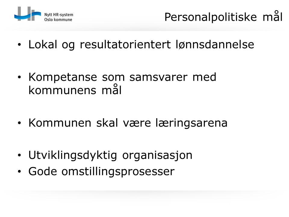 Personalpolitiske mål