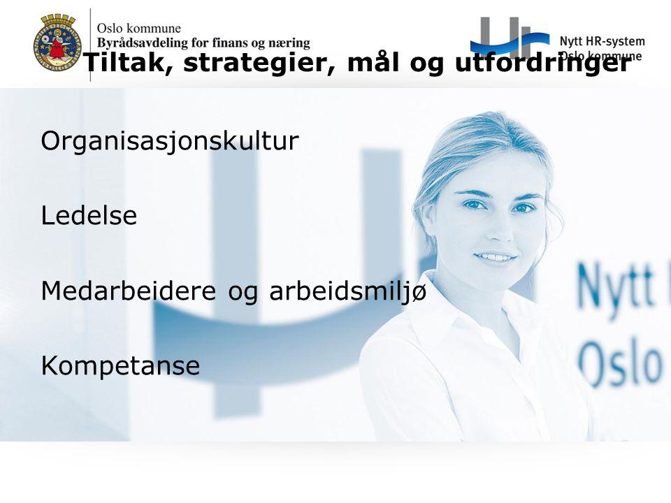 Tiltak, strategier, mål og utfordringer