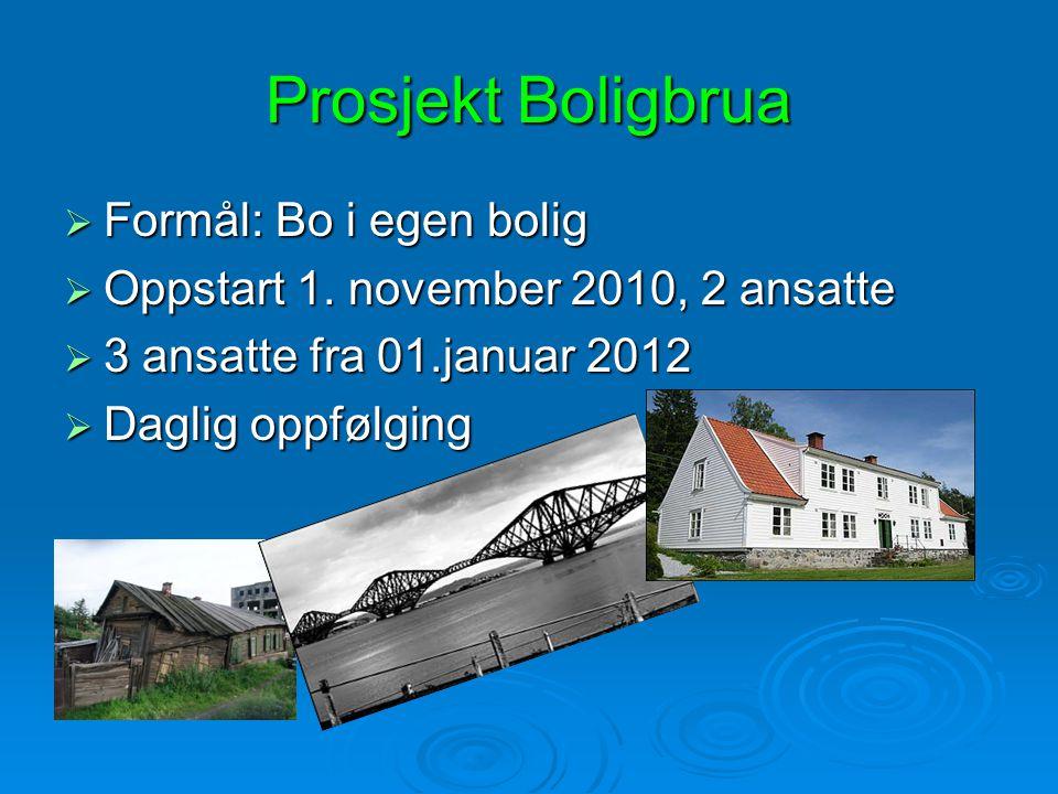 Prosjekt Boligbrua Formål: Bo i egen bolig