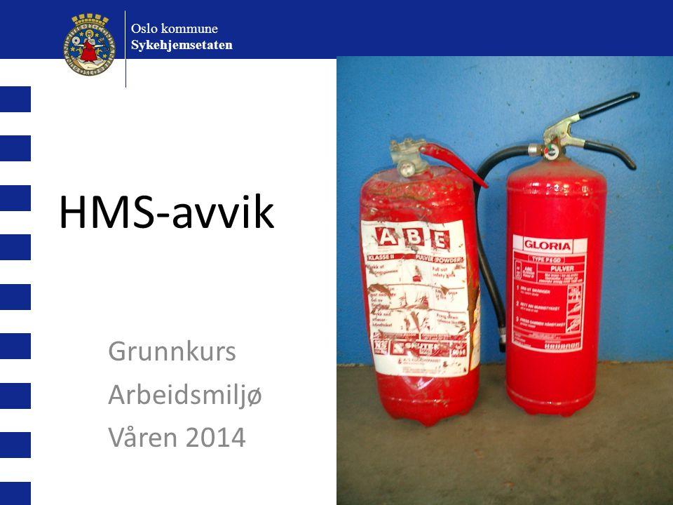 Grunnkurs Arbeidsmiljø Våren 2014