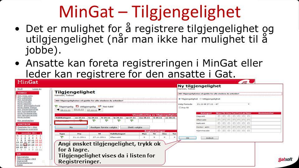 MinGat – Tilgjengelighet