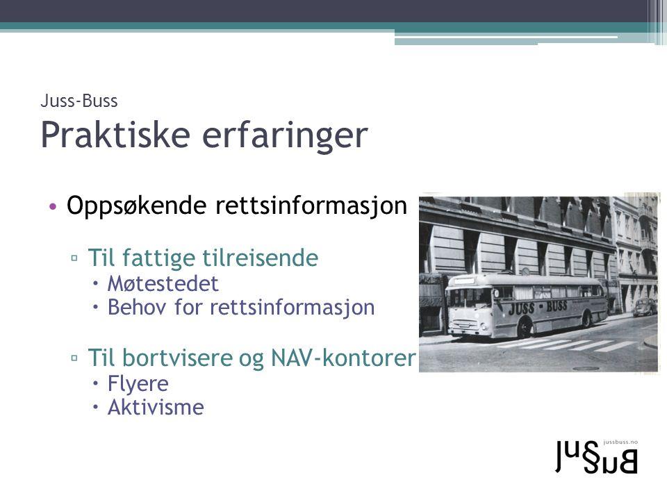 Juss-Buss Praktiske erfaringer
