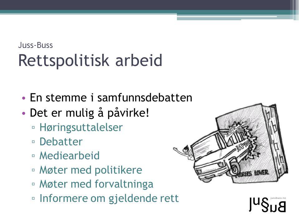 Juss-Buss Rettspolitisk arbeid