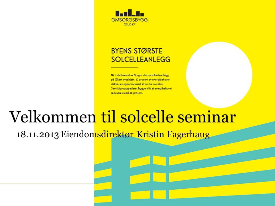 18.11.2013 Eiendomsdirektør Kristin Fagerhaug