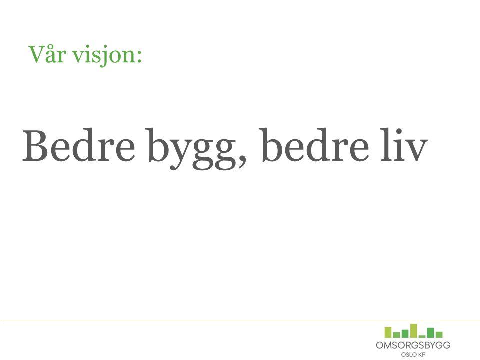Vår visjon: Bedre bygg, bedre liv