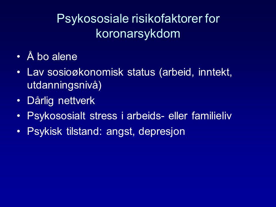 Psykososiale risikofaktorer for koronarsykdom