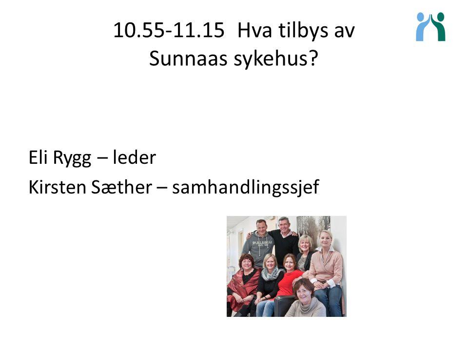 10.55-11.15 Hva tilbys av Sunnaas sykehus