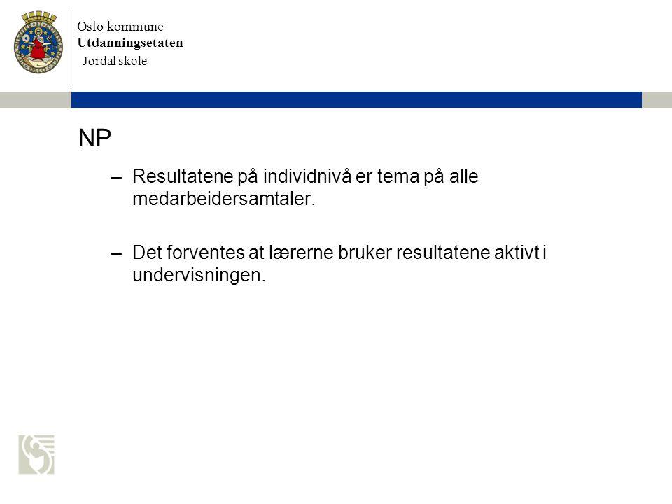NP Resultatene på individnivå er tema på alle medarbeidersamtaler.