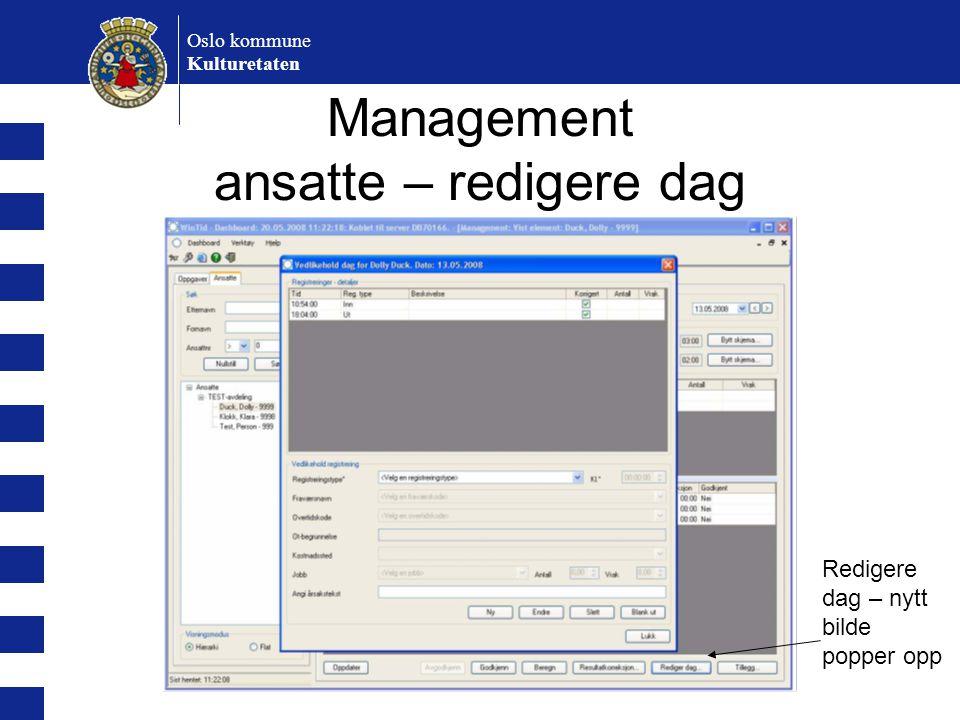 Management ansatte – redigere dag