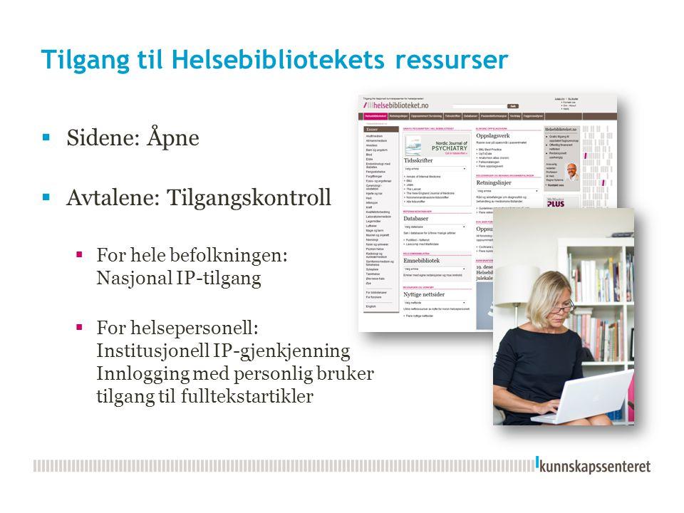 Tilgang til Helsebibliotekets ressurser