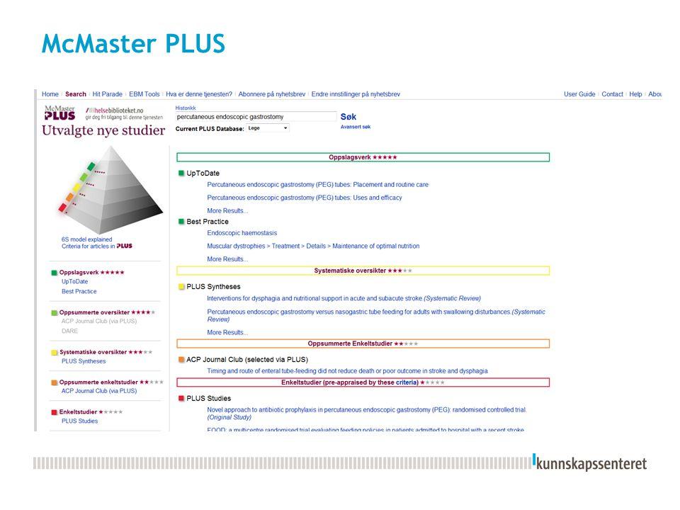 McMaster PLUS