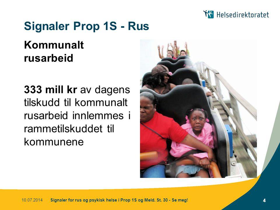 Signaler Prop 1S - Rus Kommunalt rusarbeid