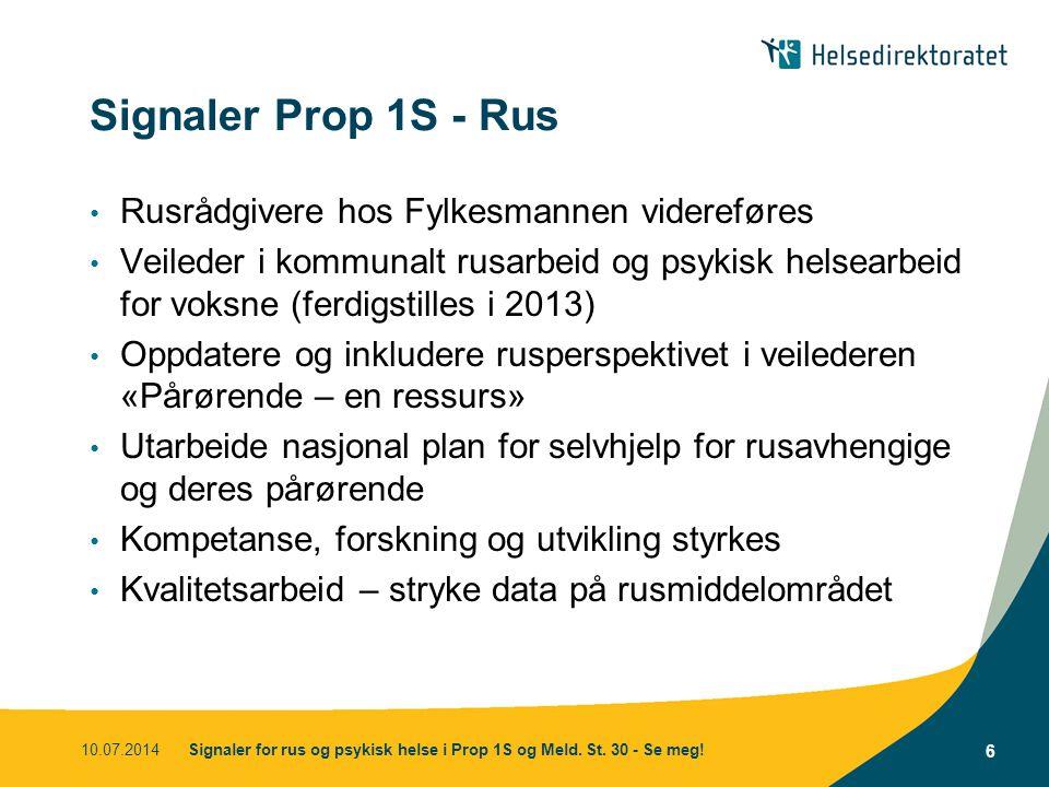 Signaler Prop 1S - Rus Rusrådgivere hos Fylkesmannen videreføres