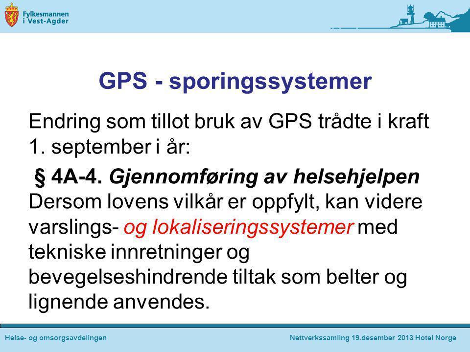 GPS - sporingssystemer