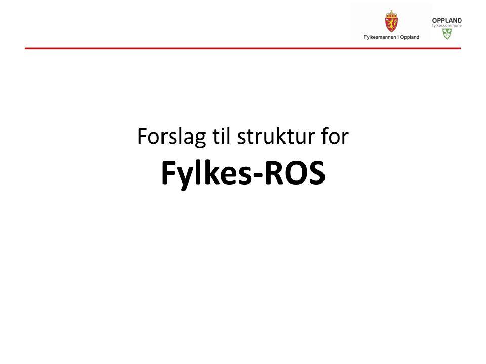 Forslag til struktur for Fylkes-ROS