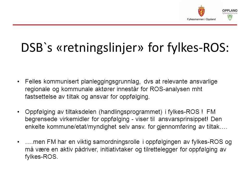 DSB`s «retningslinjer» for fylkes-ROS:
