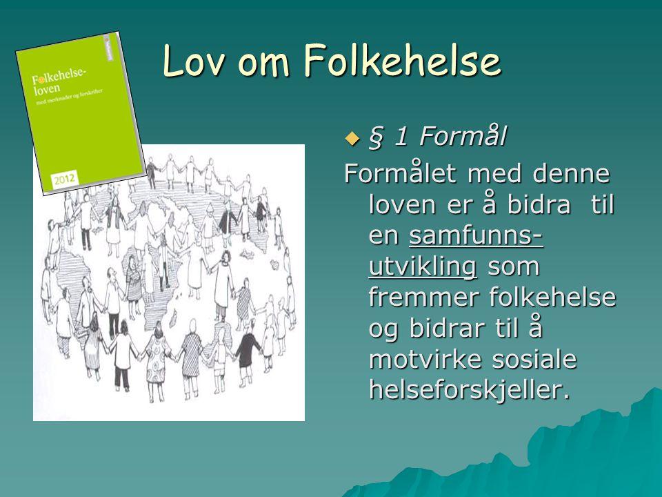 Lov om Folkehelse § 1 Formål