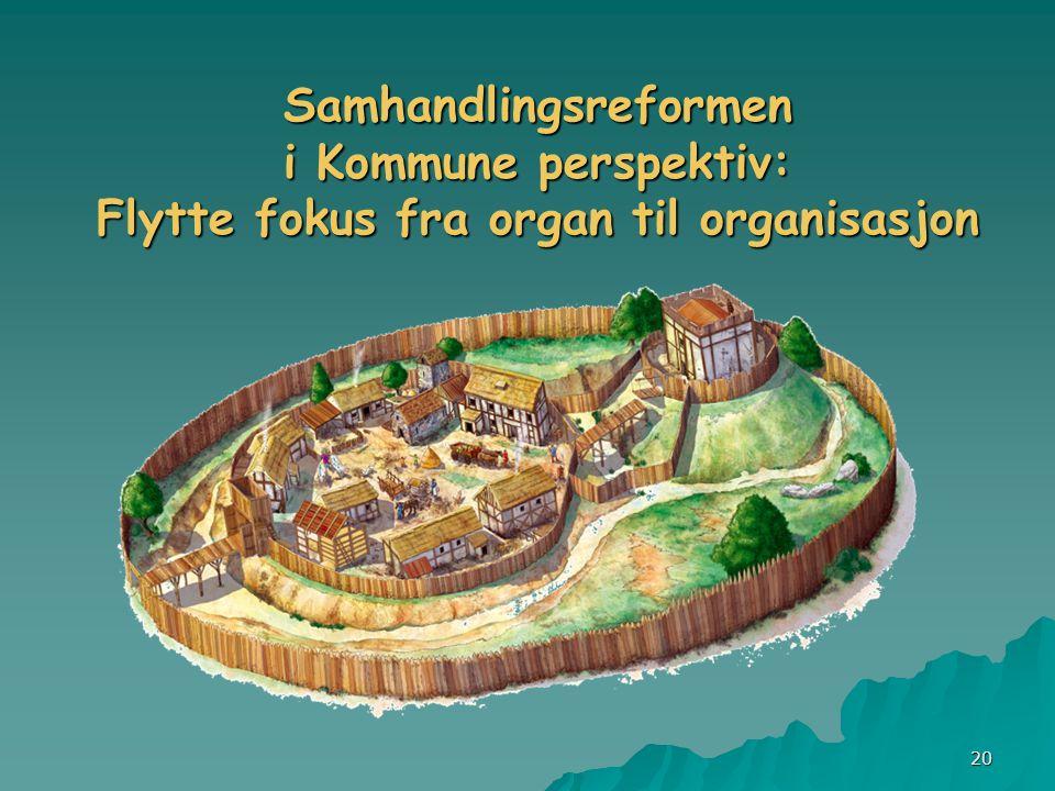 Samhandlingsreformen i Kommune perspektiv: Flytte fokus fra organ til organisasjon