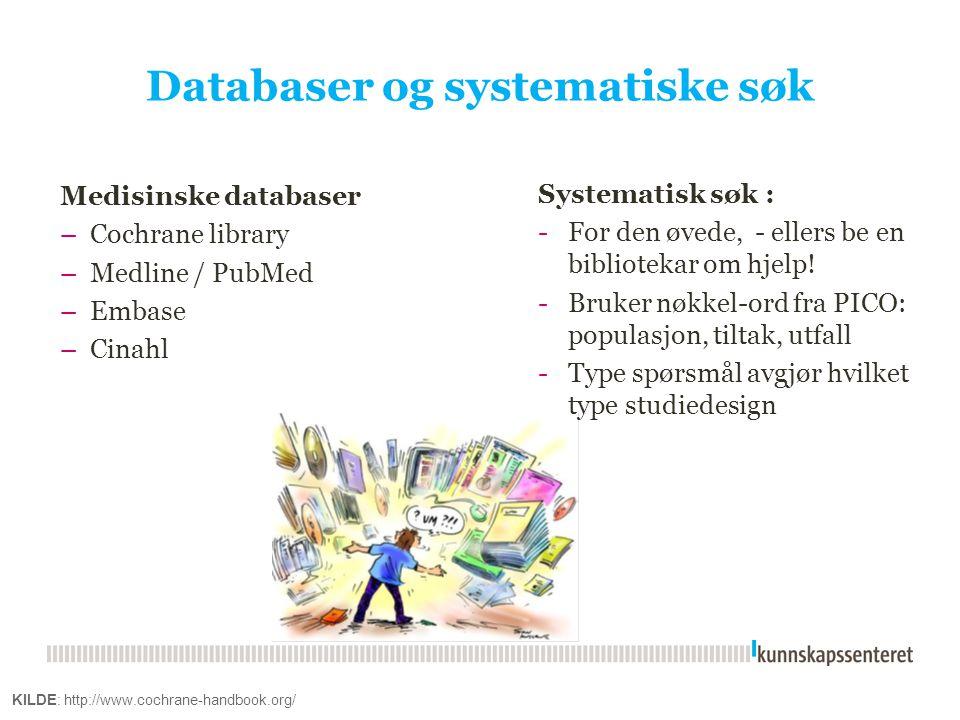 Databaser og systematiske søk