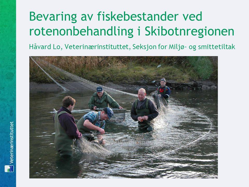Bevaring av fiskebestander ved rotenonbehandling i Skibotnregionen Håvard Lo, Veterinærinstituttet, Seksjon for Miljø- og smittetiltak