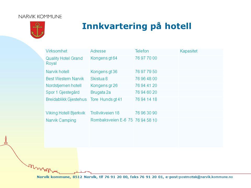 Innkvartering på hotell