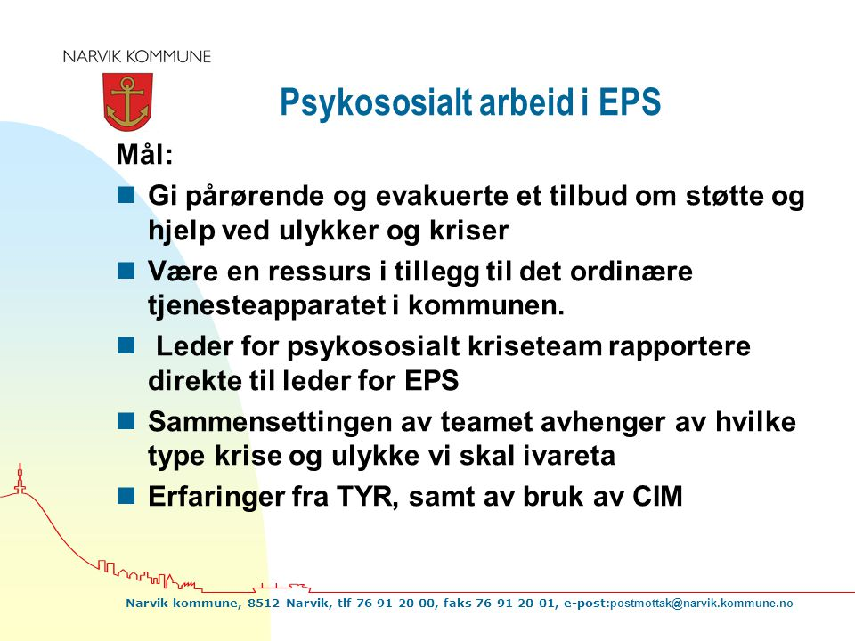 Psykososialt arbeid i EPS